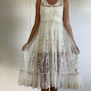 Lace free people midi dress